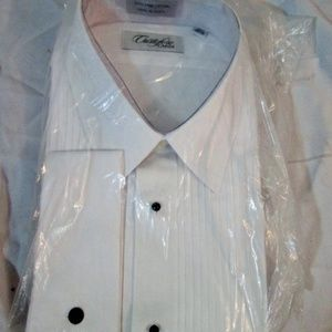 NEW Mens CRISTOFORO CARDI Pleated Tuxedo Shirt